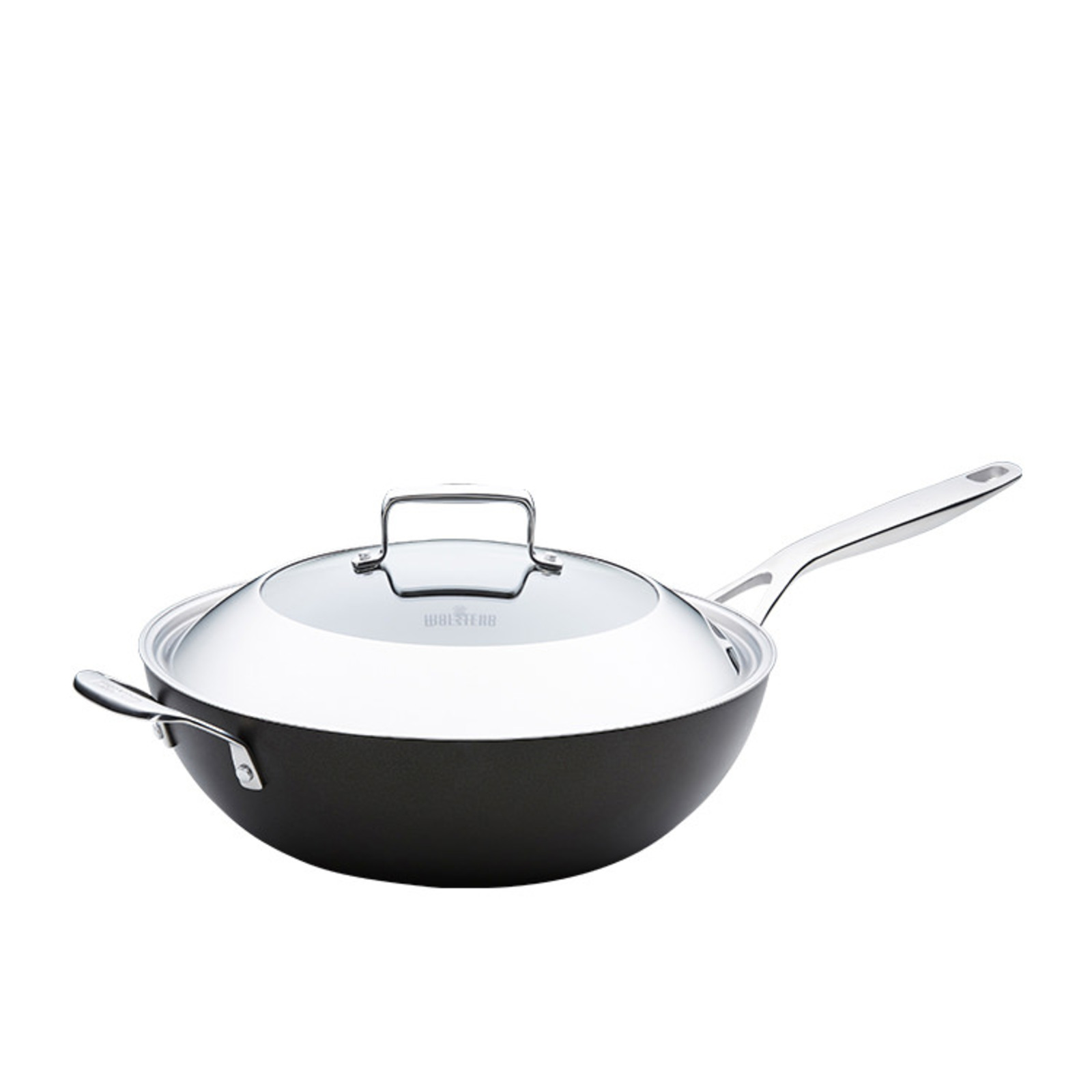 Wolstead Superior+ Wok with Lid and Helper Handle 32cm - 5.9L