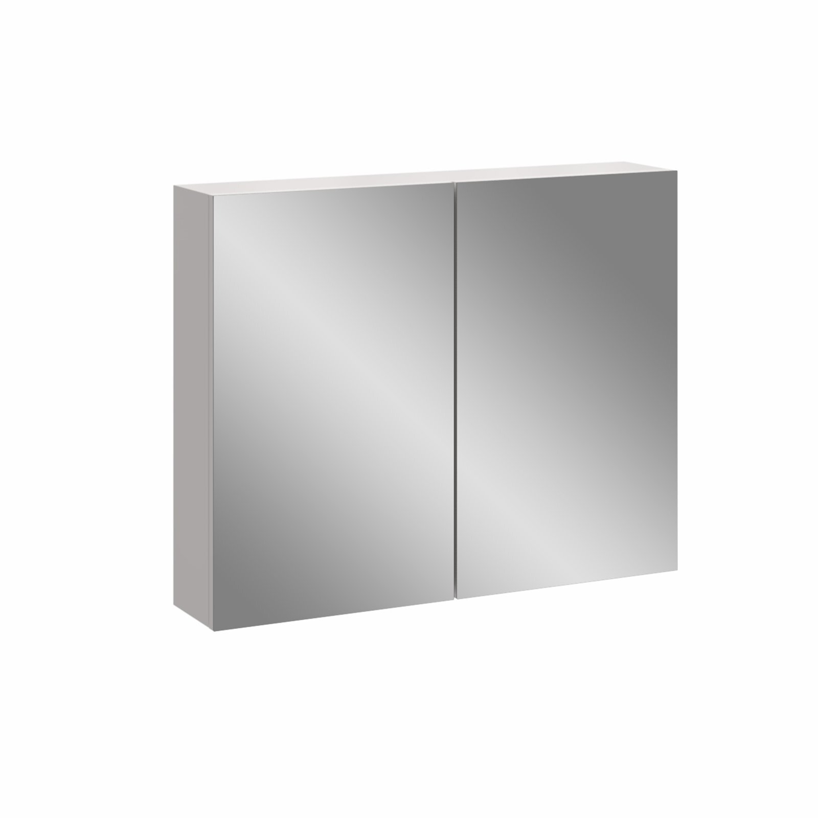 Stein 750 x 600mm White Stylo Bathroom Cabinet With Mirror Doors
