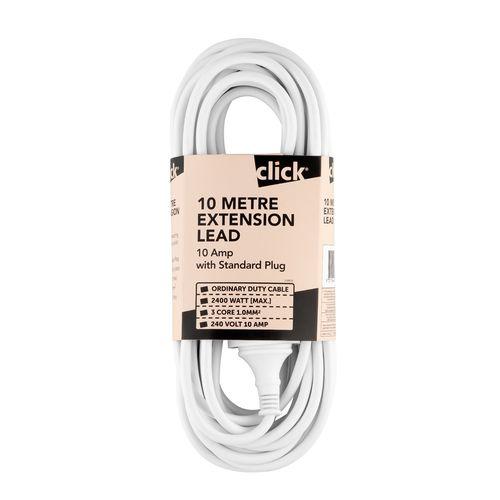 Click 10m White Extension Lead