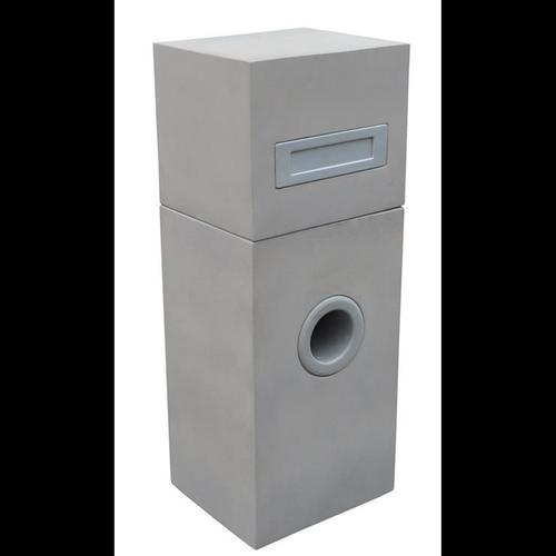 Northcote Pottery 35 x 90cm Grey Metro Pillar Letterbox