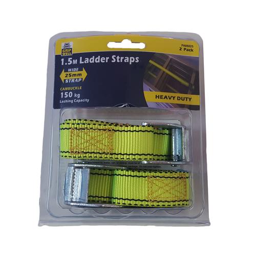 Gripwell 25mm x 1.5m Ladder Strap - 2 Pack