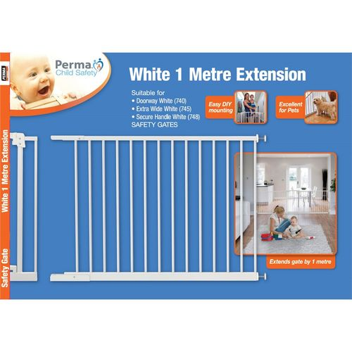 Perma Child Safety 1m White Gate Extension