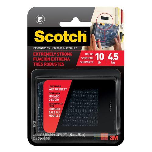 Scotch Extreme Fasteners Black 2.5cm x 7.6cm Strips - 2 Pack
