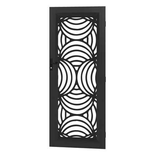 Protector Aluminium 813 x 2032mm Black Profile 10 Metric Deco Barrier Door
