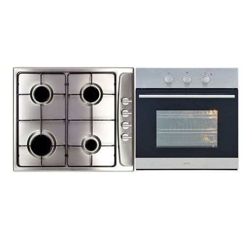 Bellini 60cm Stainless Steel Gas Cooktop and Electric Oven Builders Pack