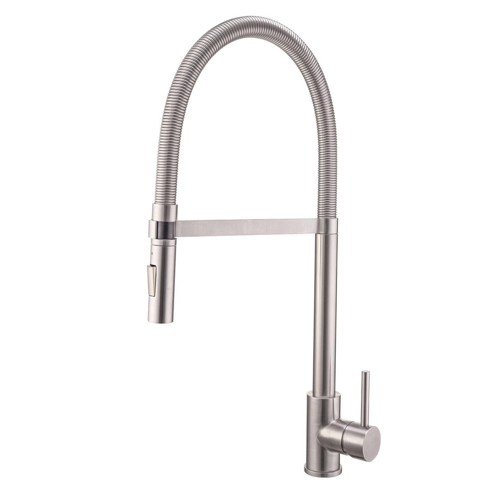 Mondella Resonance Stainless Steel Vege Spray Side Lever Sink Mixer - Suitable Mains Pressure Only
