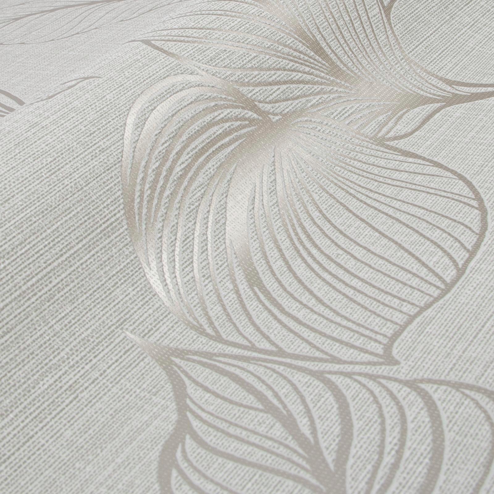 Boutique 52cm x 10m Royal Palm Pearl  Wallpaper