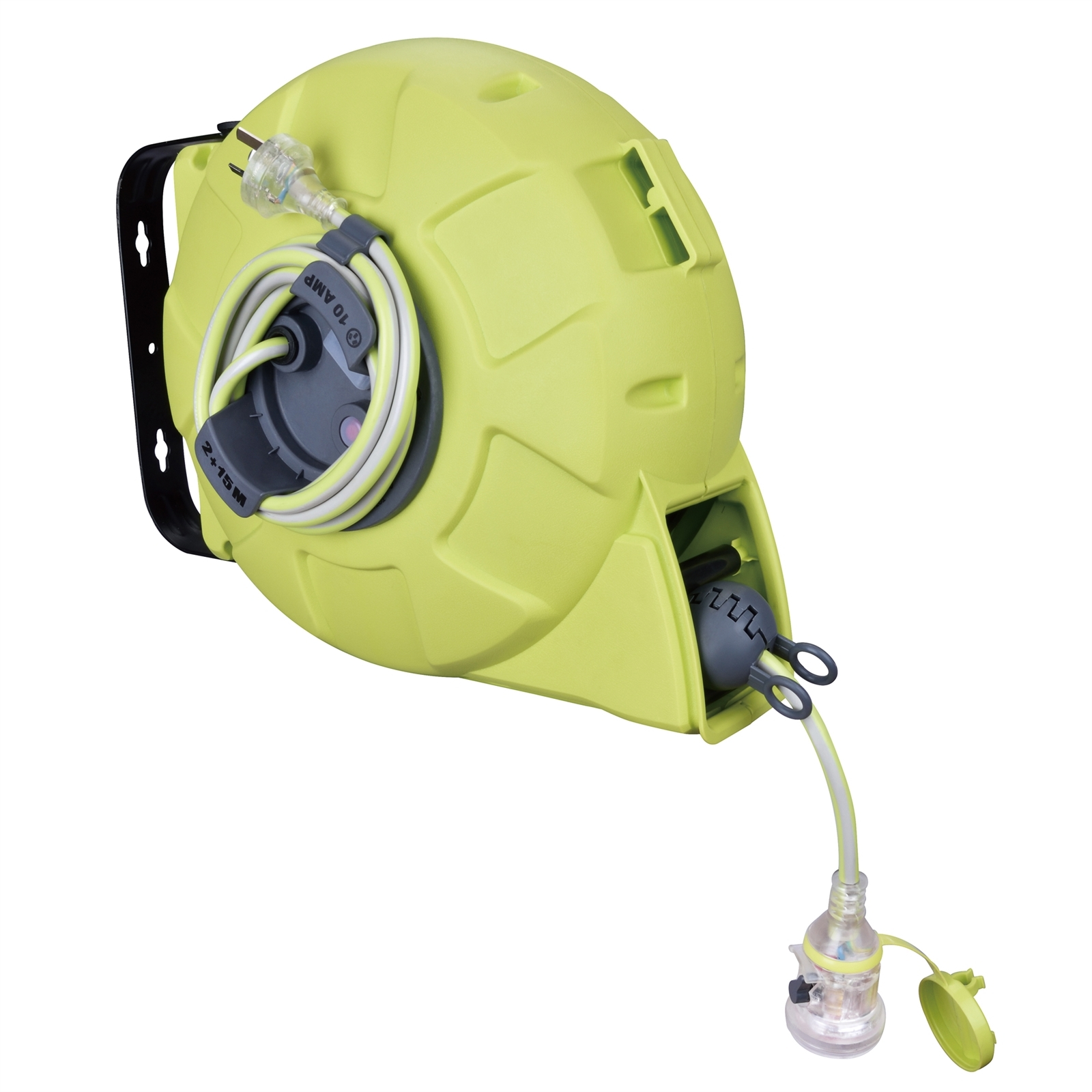 CordTech 17m Retractable Cable Reel With Lock-On Socket
