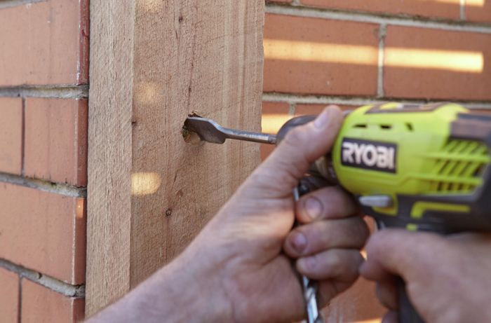 DIY Step Image - How to build a timber screen . Blob storage upload.