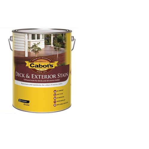 Cabot's 10L Red Rata Oil Based Deck & Exterior Stain