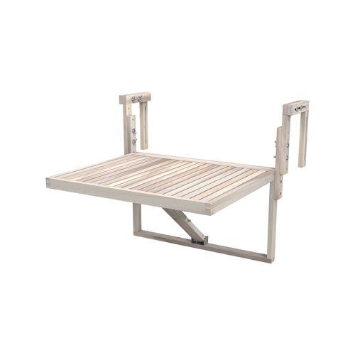 Interbuild 60x45cm White Organic Toronto Folding Balcony Table