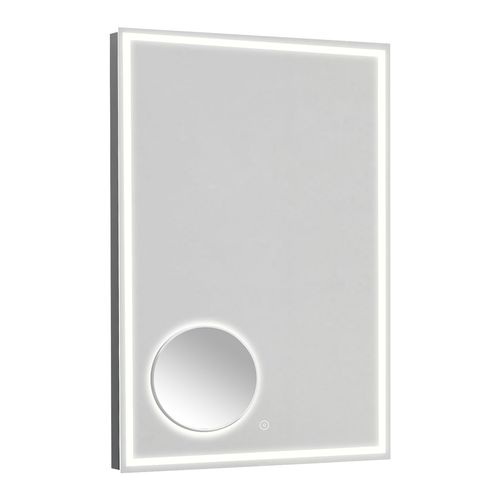 Estilo Rectangle Frameless Mirror with Magnifier and LED Light