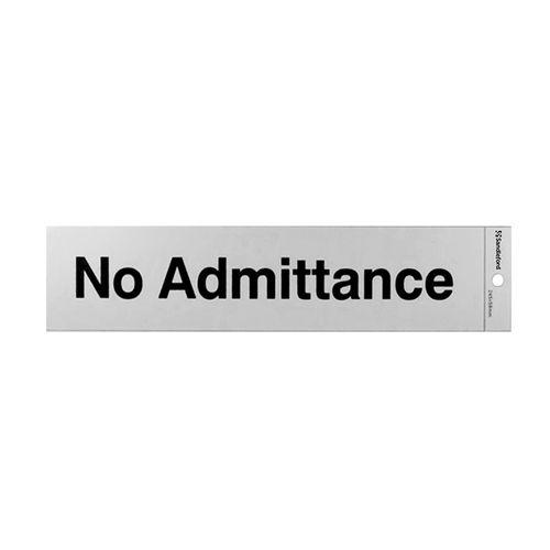 Sandleford 245 x 58mm No Admittance Self Adhesive Sign