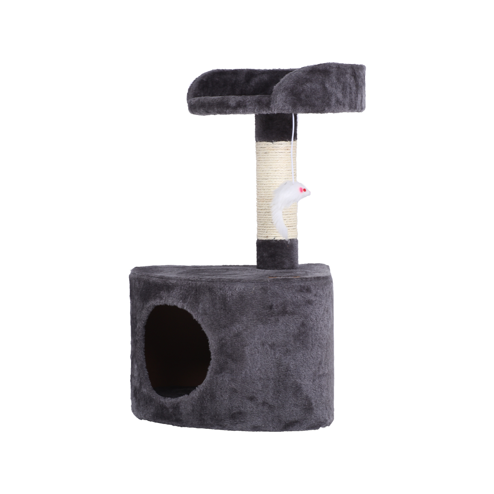 Charlie's Pet Cat Tree with Round House - Charcoal
