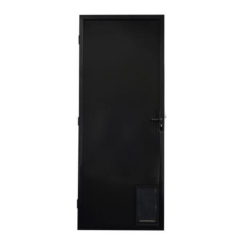 Polar Black Metric Left Hand Pet Screen Door