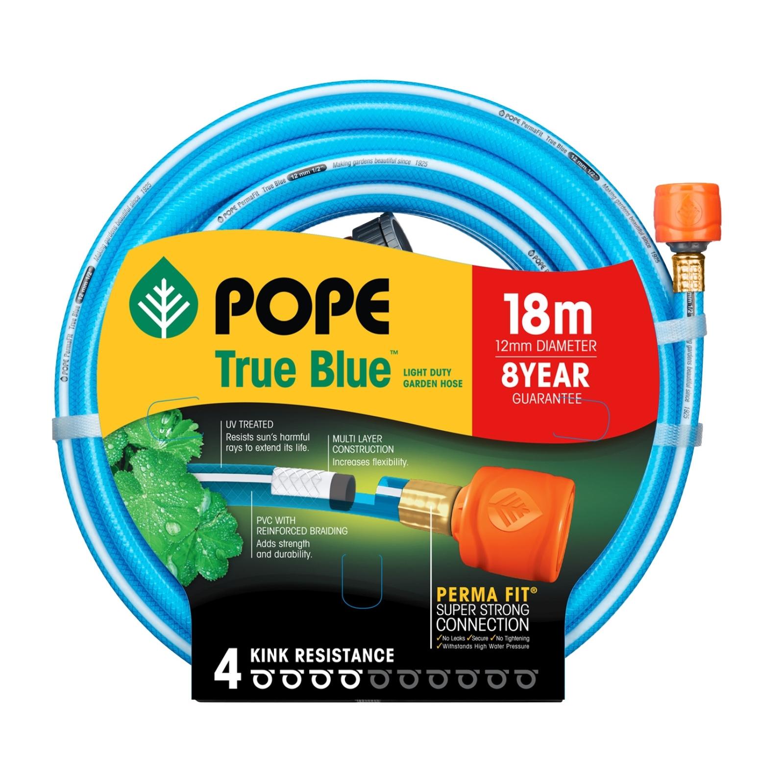 Pope 12mm x 18m True Blue Tap Ready Garden Hose