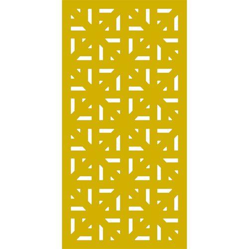900 x 1800mm ACP Profile 29 Decorative Panel Unframed - Light Yellow