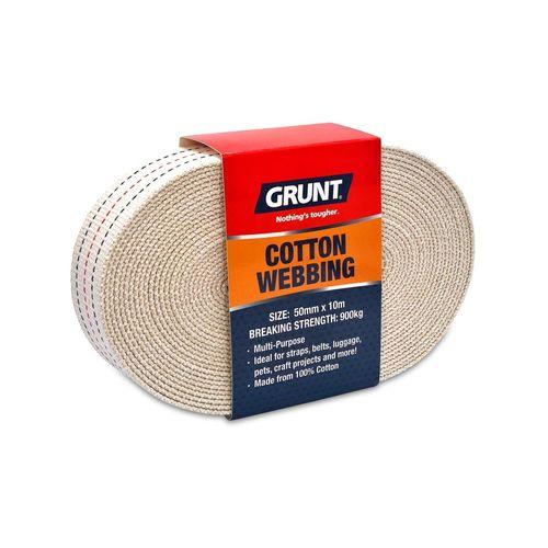 Grunt 50mm x 10m Cotton Webbing