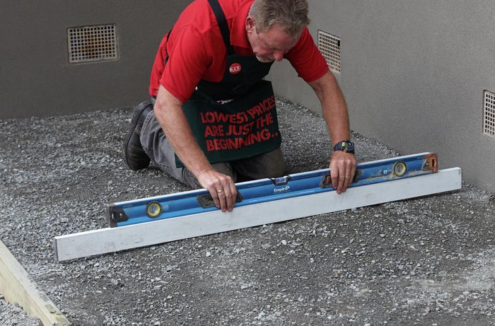 DIY Step Image - How to prepare and lay a base for pavers . Blob storage upload.