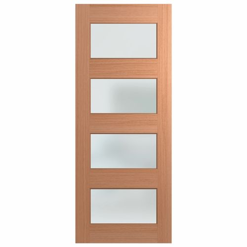 Hume 2040 x 1200 x 40mm Clear Glass Savoy Entrance Door - 1200mm x 2340mm x 40mm