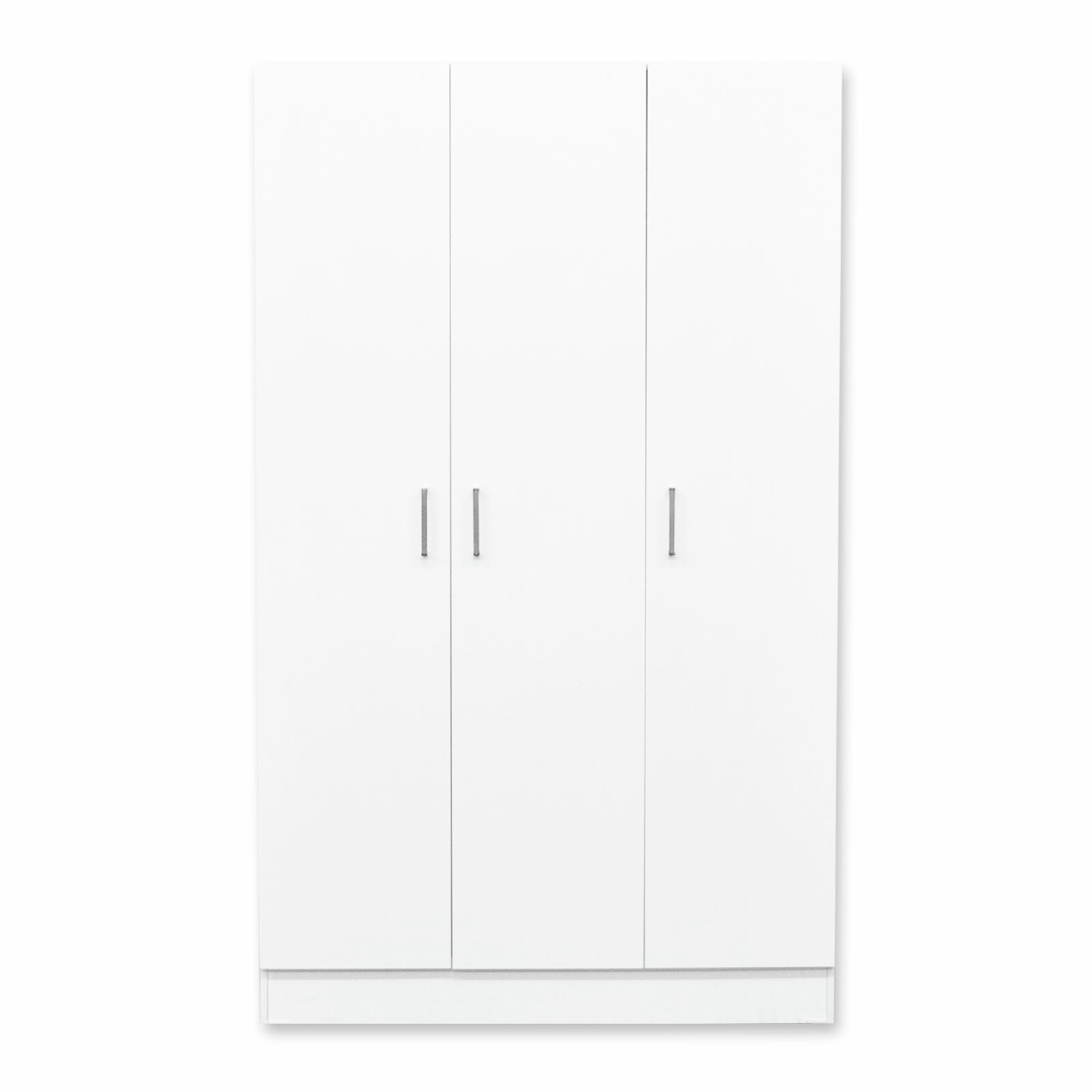 Bedford 2000 x 1200 x 468mm White 3 Door Wardrobe Unit
