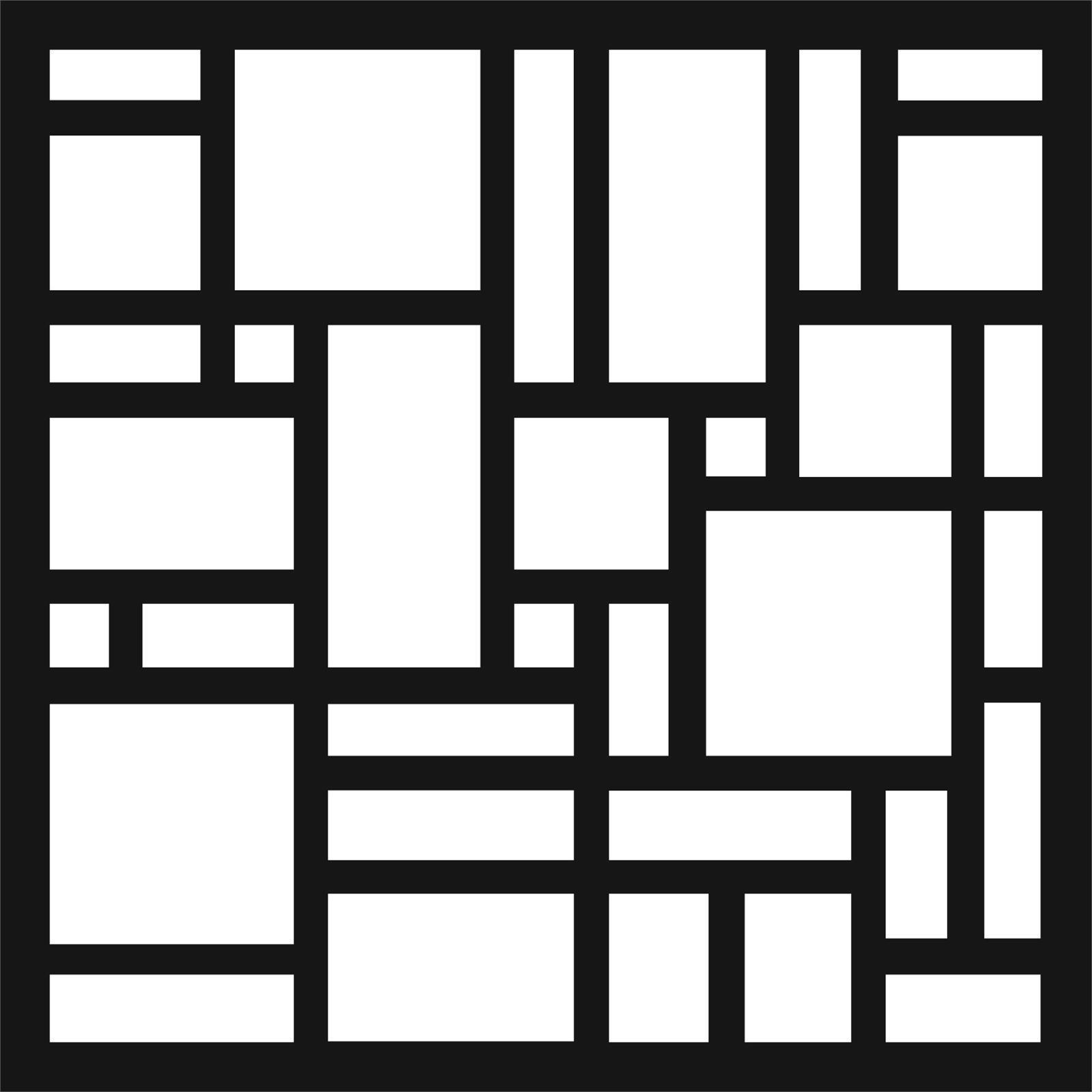 Matrix 58 x 58cm Charcoal Wall Art Tiles