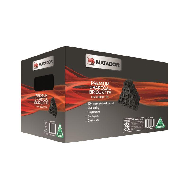 10Kg Premium Charcoal Briquette BBQ Fuel