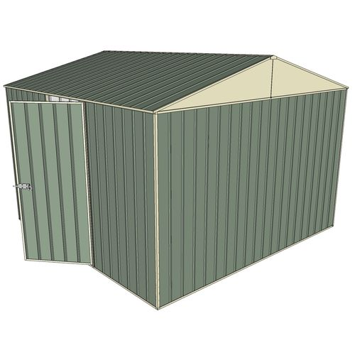 Build-a-Shed 3.0 x 3.0 x 2.3m Gable Single Hinged Side Door Shed - Green