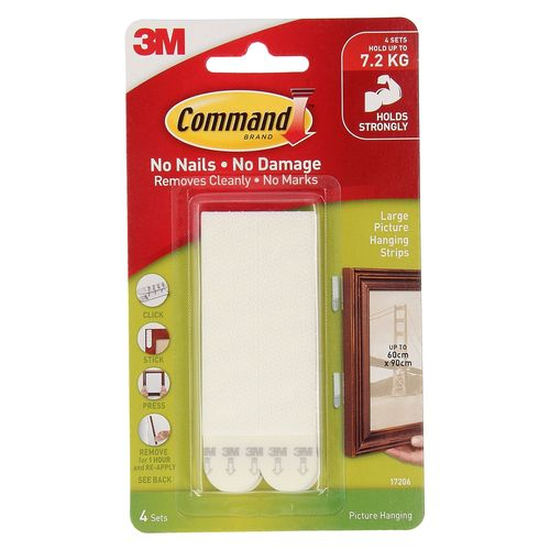 Command Large White Adhesive Picture Hanging Strips - 4 Pack