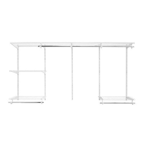 Flexi Storage 2.4m White Wardrobe Starter Kit