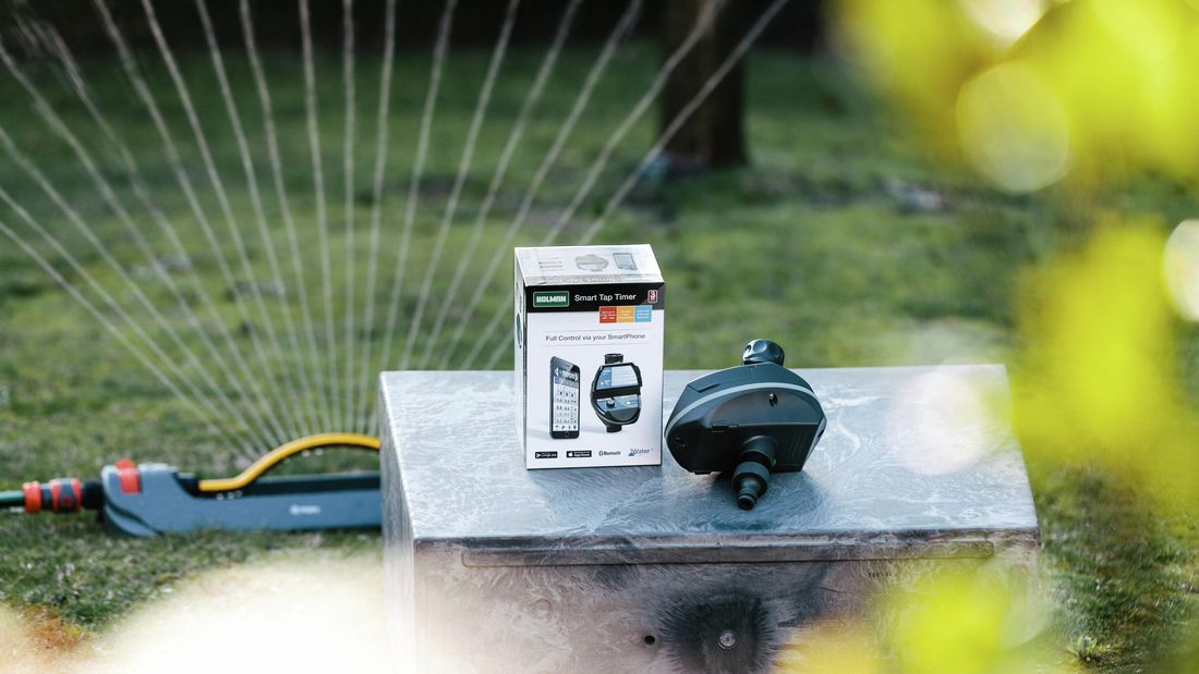 DIY Advice Image - How to install and set timers on a smart irrigation system for your garden. G Drive blob storage upload.
