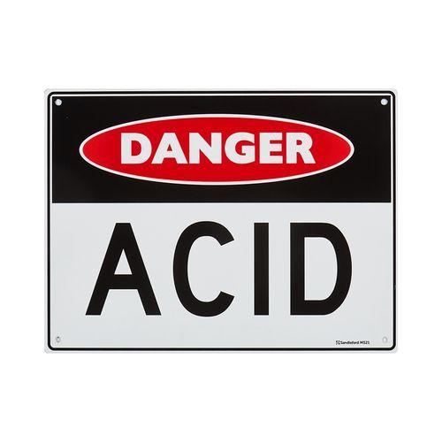 Sandleford 300 x 225mm 'Acid' Plastic Sign