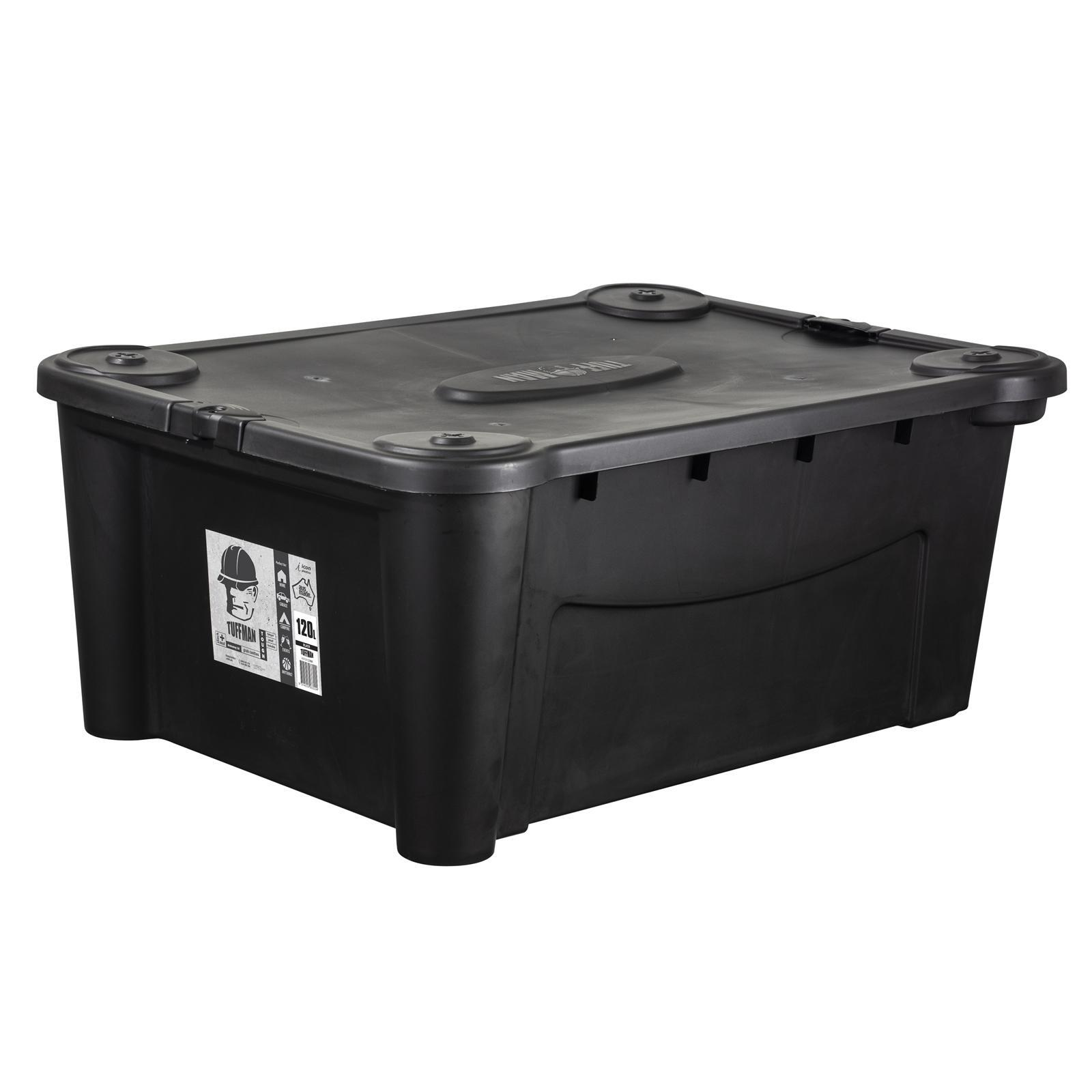 Icon Plastics 120L Black Tuffman Heavy Duty Storage Container