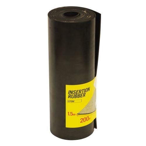 Moroday 200 x 1.5mm x 2m Black Insertion Rubber Roll