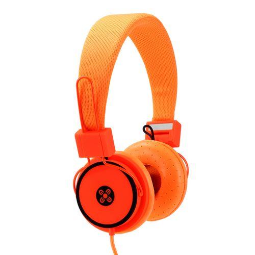 Moki Hyper Headphones On Ear Cup Headband Foldable/3.5mm Jack/1.2m Cable Orange