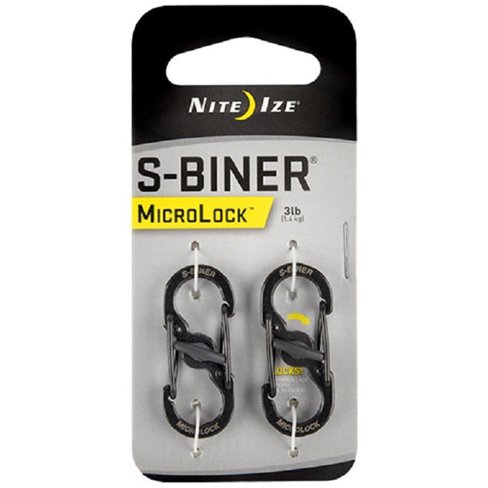 Nite Ize S-Biner MicroLock Black 2pk