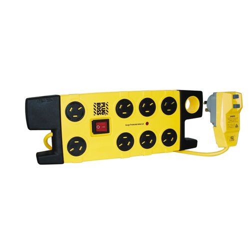 HPM 8 Outlet Plugboss Surge Protected Powerboard