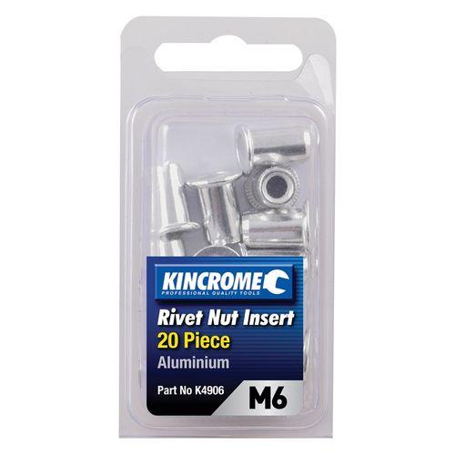 Kincrome M6 Rivet Nut Insert - 20 Pack