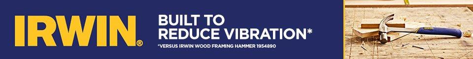 Irwim. Built to reduce vibration, versus the Irwin Wood Framing Hammer 1954890.