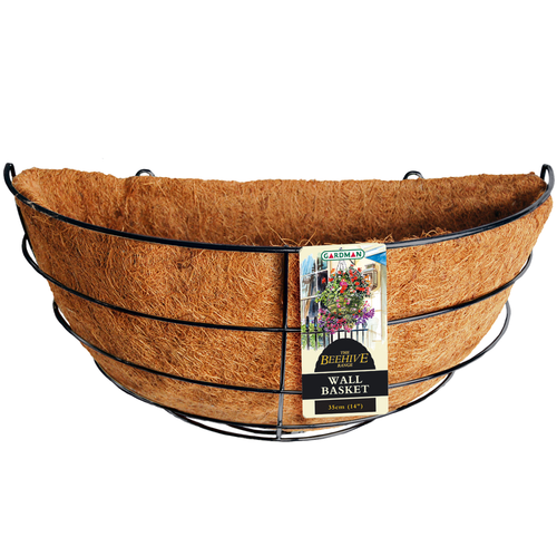 Gardman 35cm Beehive Wall Basket With Liner