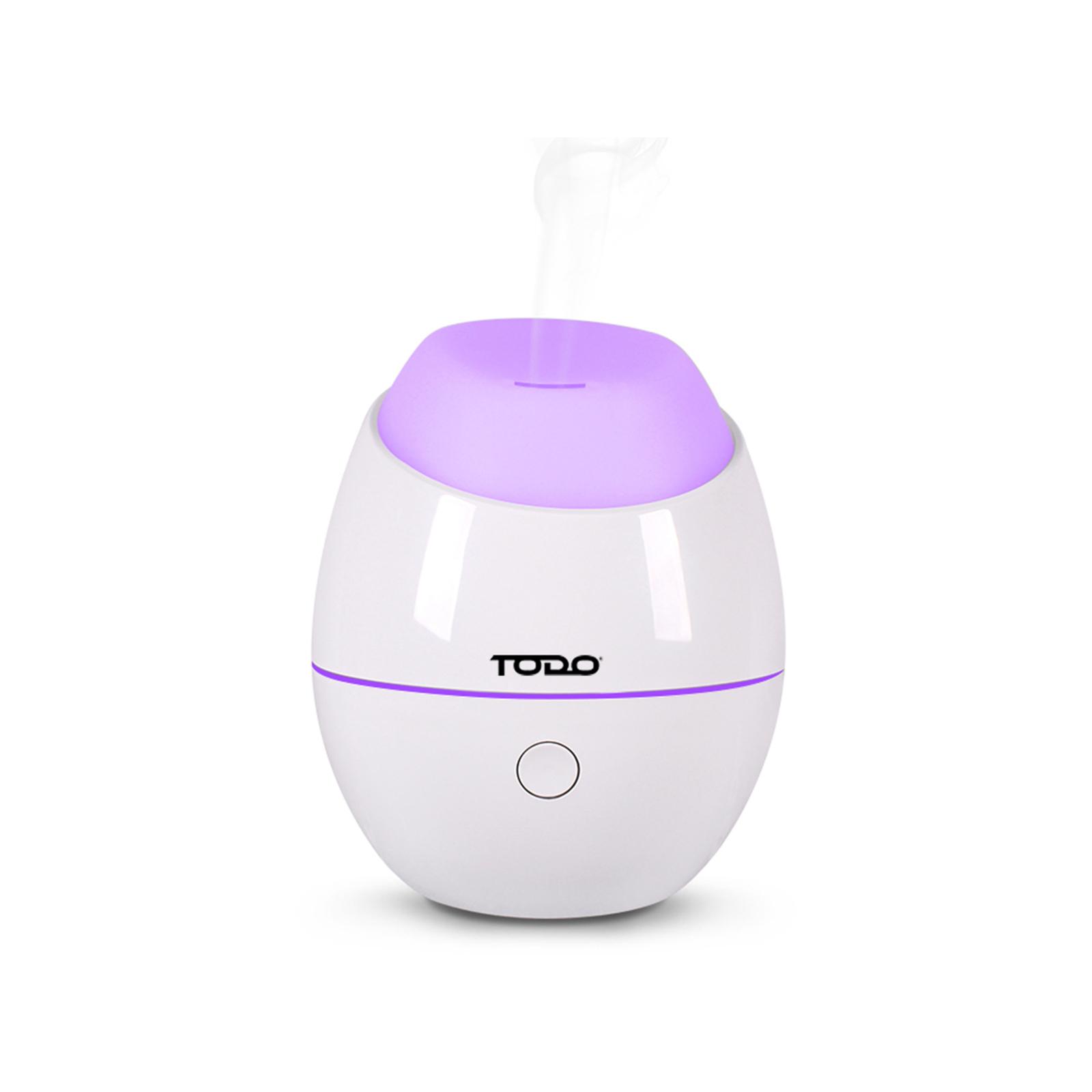 TODO 120ml Humidifier Aromatherapy Diffuser w/ LED Light - White