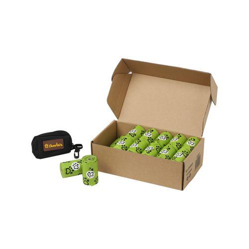 Charlie's Pet Eco-Friendly Biodegradable Doggy Poop Bags & Pouch Dispenser Black - 480 Bags