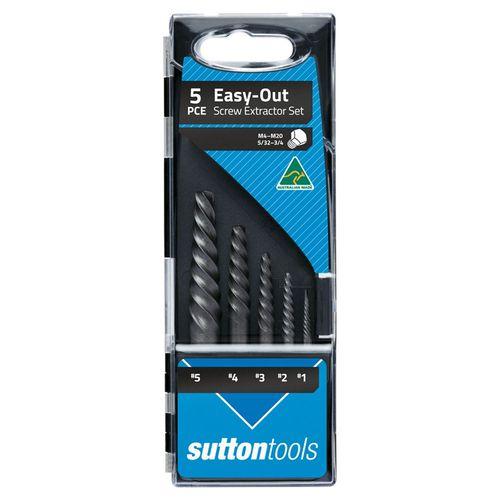 Sutton Tools Screw Extractor 5pce Set No1-5