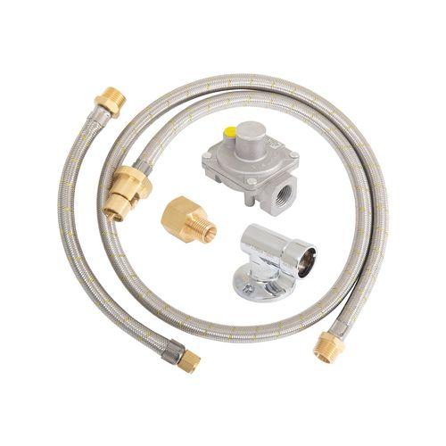 Gasmate Natural Gas Regulator And Hose Kit with Quick Connect Bayonet Socket