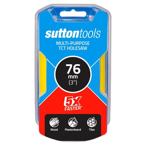 Sutton Tools 76mm TCT Multi-Purpose Seamless Holesaw