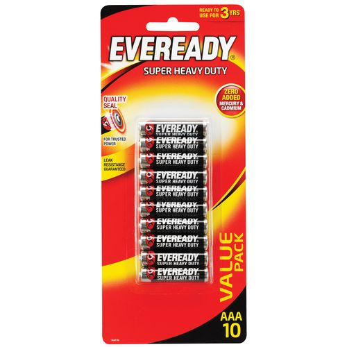 Eveready AAA Super Heavy Duty Battery - 10 Pack