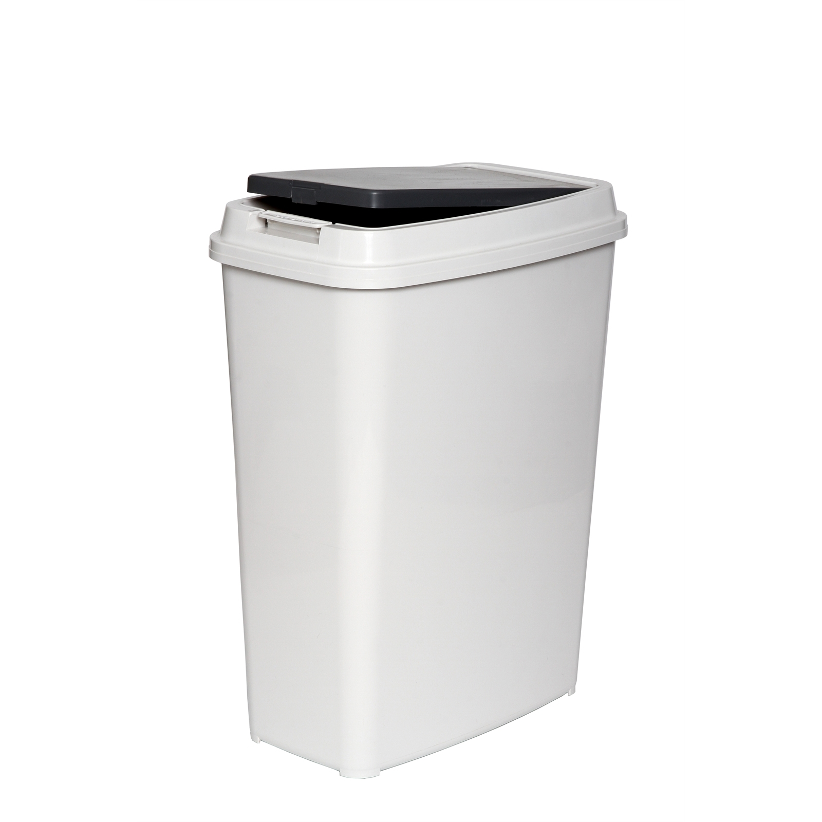Willow 30L White/Charcoal Touch Top Tidy Slim Bin