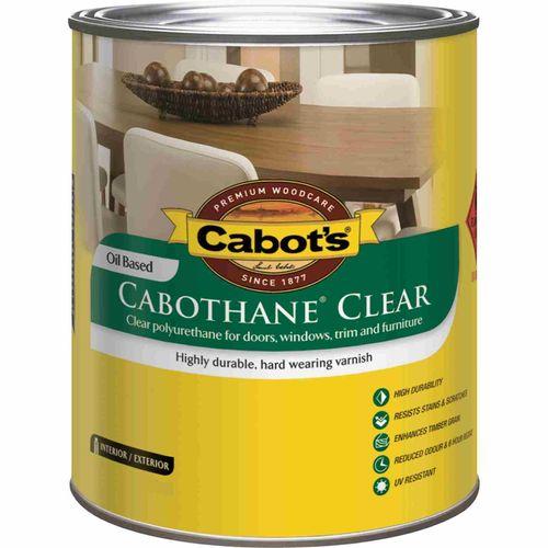 Cabot's 4L Cabothane Matt Clear Polyurethane Timber Varnish