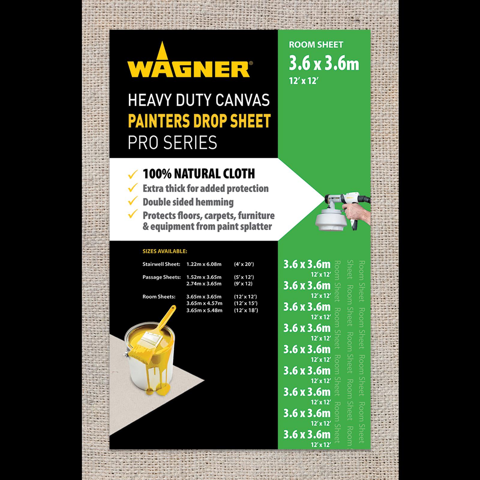 Wagner 3.65 x 3.65m Heavy Duty Canvas Drop Sheet