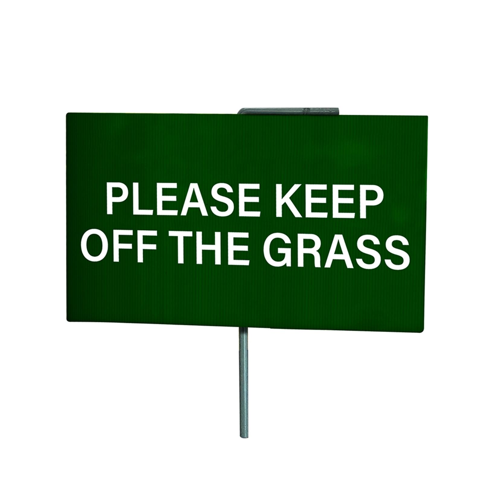 Sandleford 210mm Keep Off The Grass Sign